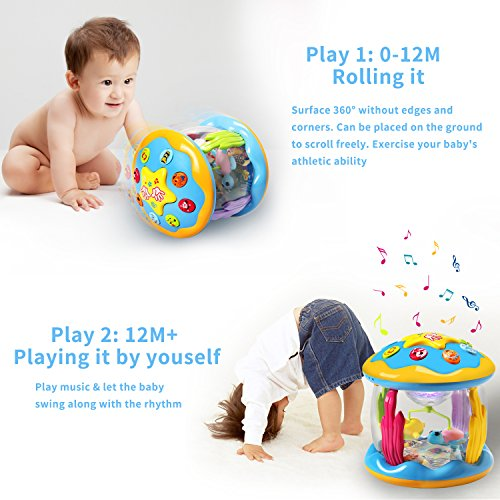 HOMOFY Baby Toys Ocean Park Rotating Projector,Various Pacify Music & Light,Super Fun,Early Educational Toys for 1 2 3 Year Girls and Boys Kids or Toddlers(BEST GIFTS) by HOMOFY (Image #4)