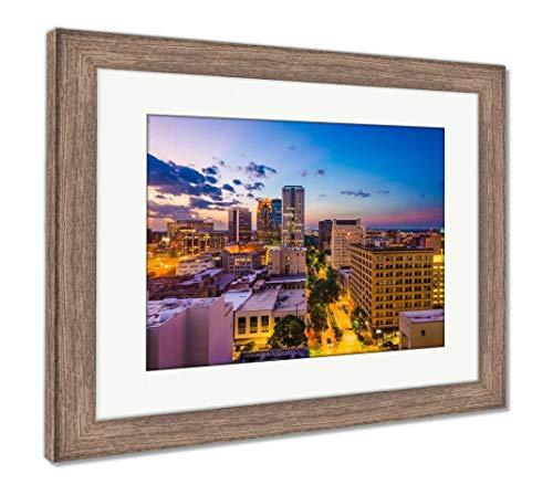 (Ashley Framed Prints Birmingham, Alabama, USA, Wall Art Home Decoration, Color, 26x30 (Frame Size), Rustic Barn Wood Frame, AG32675375)
