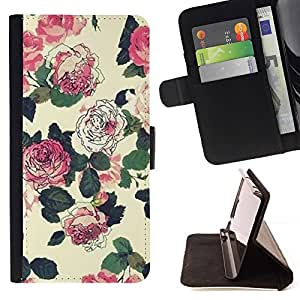 Momo Phone Case / Flip Funda de Cuero Case Cover - Rustique papier peint vintage - Huawei Ascend P8 Lite (Not for Normal P8)