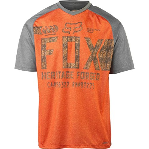 Mens Indicator (Fox Racing Indicator Limited Edition Jersey - Short Sleeve - Men's Charcoal/Orange, L)