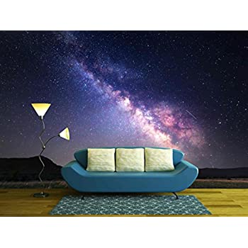 Wall26   Landscape With Milky Way. Night Sky With Stars At Mountains.    Removable Part 56