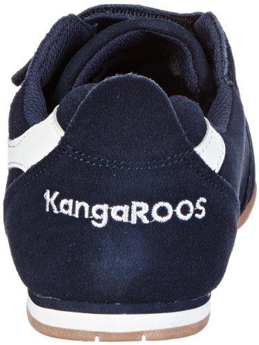 KangaROOS Tach Low V - Zapatillas de correr de cuero infantil azul - Blau (dark navy/white)