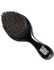 Torino Pro Curve Wave Brush by Brush King - #450 - Medium Hard Curve Wave Brush - Made with Reinforced Boar & Nylon Bristles -True Texture Medium Hard 360 Waves Brushes
