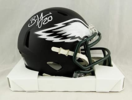847795b7849 Image Unavailable. Image not available for. Color: Brian Dawkins  Autographed Philadelphia Eagles Flat Black Mini Helmet- JSA W Auth White