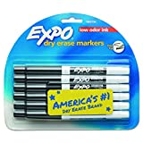Office Products : EXPO 86001 Low Odor Dry Erase Marker, Fine Point, Black (Pack of 12)