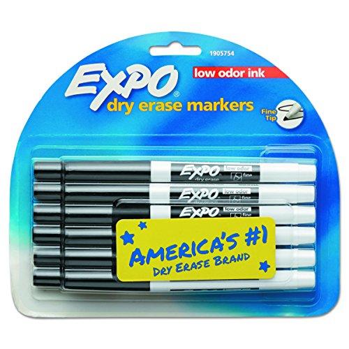 Fine Black Marker (EXPO 86001 Low Odor Dry Erase Marker, Fine Point, Black (Pack of 12))