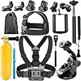 Followsun 15-In-1 Action Camera Accessories Kit Compatible with GoPro Hero/ Session/Hero 6 5 4 3+ 3 2 1 Campark ACT74 AKASO EK7000 Crosstour APEMAN DBPOWER FITFORT ENEK Acko Lightdow Sony Sports DV