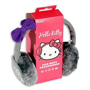 Hello Kitty HK8903G - Auriculares orejeras (3.5 mm, 108 dB, 100 mW), color gris