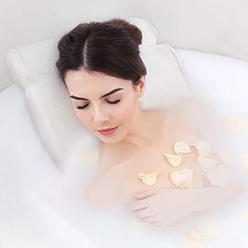 Amazon.com: Almohada antideslizante de malla para bañera de ...