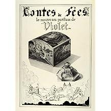 1933 Ad Contes De Fees Violet French Perfumes Scents Decorative Box Paris France - Original Print Ad