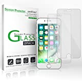 iPhone 7 6S 6 Screen Protector Glass, amFilm iPhone 7 Tempered Glass Screen Protector for Apple iPhone 7, iPhone 6S, iPhone 6 2016, 2015 (2-Pack)