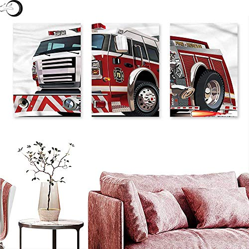 J Chief Sky Fire Truck Wall hangings Rescue Department Car Wall Panel Art W 12
