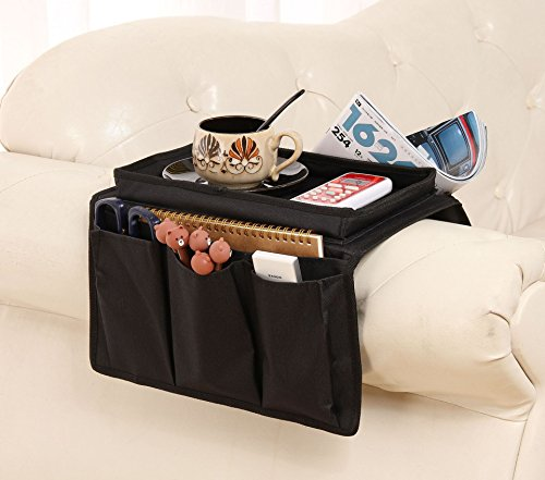 lecent @ sillón bandeja sofá pasamanos sofá apoyabrazos organizador bolsa de mando a distancia soporte en TV sofá...