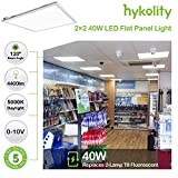 2x2FT LED Flat Panel Troffer Light, 40W 5000K