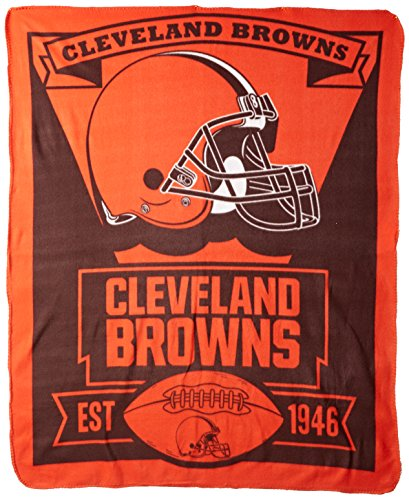 The Northwest Company Officially Licensed NFL Cleveland Browns Marque Printed Fleece Throw Blanket, 50'' x 60'' by The Northwest Company
