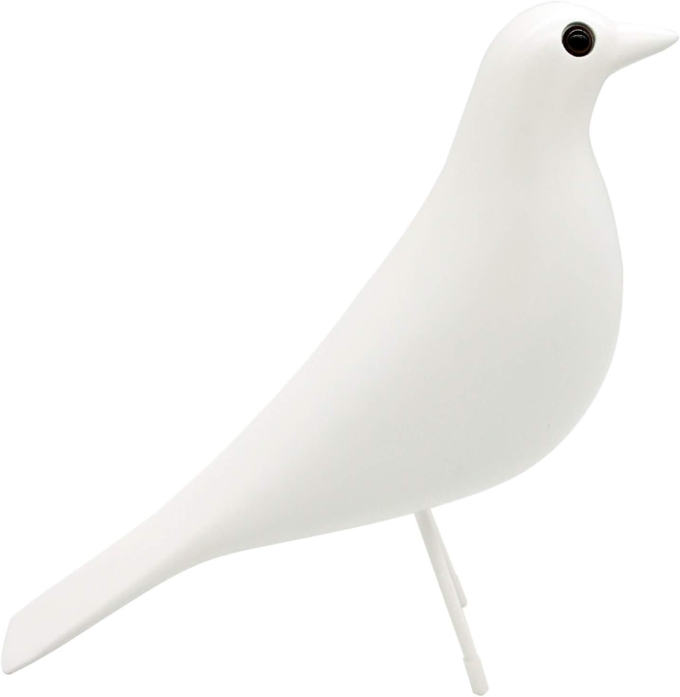 Eames House Bird, Mid Century Bird Adornment Office Home Decor, Desk Dove Ornament, Arts Pigeon Gifts. Eames Replica Sculpture (White)