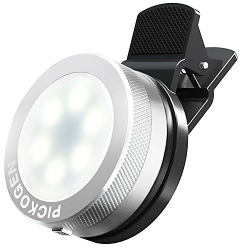 Universal Clip-On Mini LED Light Portable Pocket Spotlight for iPhone, iPad, iPod, Samsung, LG, Motorola, HTC, Nokia, Cell Phones and Tablets Camera Video Light (Chrome) by Itech