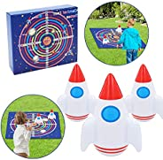 Zixar Carnival Bean Bag Toss Game for Kids and Adult, Inflatable Lawn Darts Games for Yard Games, Space Advent