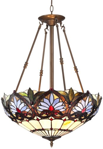 Tropical Lighting Fixtures (Tiffany Style Tropical Floral 20 1/2
