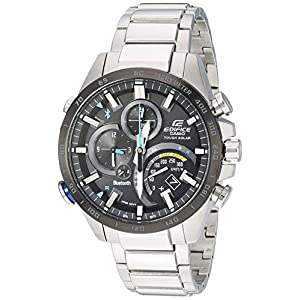 Casio Men's Edifice Connected Quartz Watch with Stainless-Steel Strap, Silver, 14 (Model: EQB-501XDB-1ACF) 6