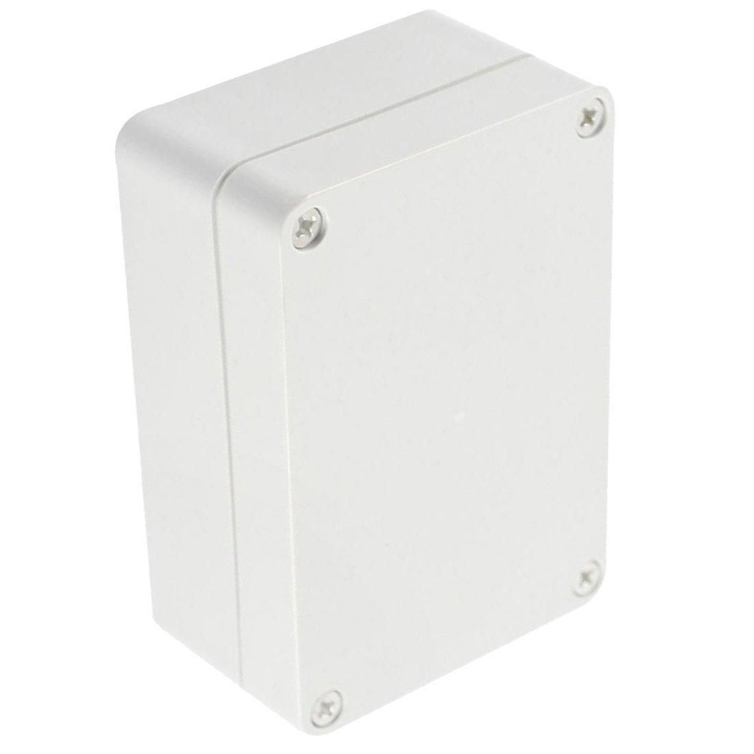 REFURBISHHOUSE Caja de proyecto electronico de conexiones de plastica de cubierta transparente impermeable 82x58x35mm