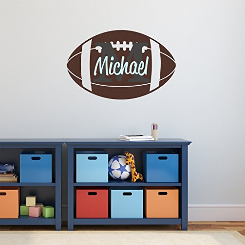Nursery Wall Decals Football Name and Initial Personalized Name Wall Decal 36