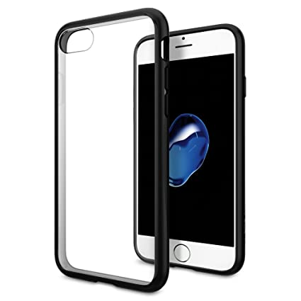 reputable site cdfb8 db128 iPhone 7 Case, iPhone 7 Cases, Spigen Ultra Hybrid - Air Cushioned  Drop/Camera Protection Clear Case for Apple iPhone 7 (2016) - Black