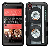 HTC Desire 626s case - [Cassette Tape]( Black / Black) PaletteShield(TM) [TuMax] dual layer cell phone armor cover hybrid hard skin guard ultra protective shell (for HTC Desire 626s 626)