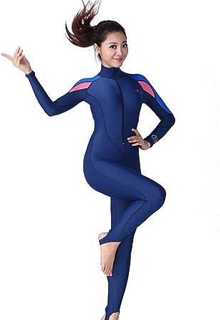 Combinaison de plong/ée Femme Longueur de Natation Surfing Combinaison de Plong/ée Maillot de Bain /à Longues Manches Maillot de Bain 1 Pi/èce All-in-One Wetsuit