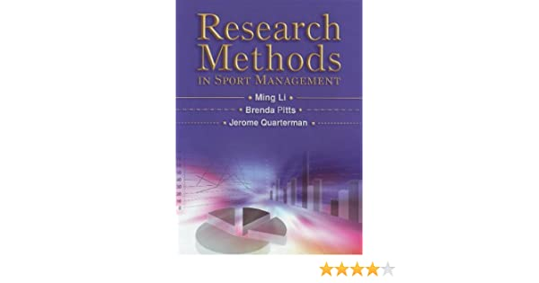 Amazon Research Methods In Sport Management 9781885693853