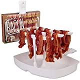 Microwave Bacon Cooker - The Original Makin Bacon Microwave Bacon Tray - Reduces Fat up to 35% for a Healthy Breakfast- Make Crispy Bacon in Minutes. Made in the USA. Ships from Wisconsin