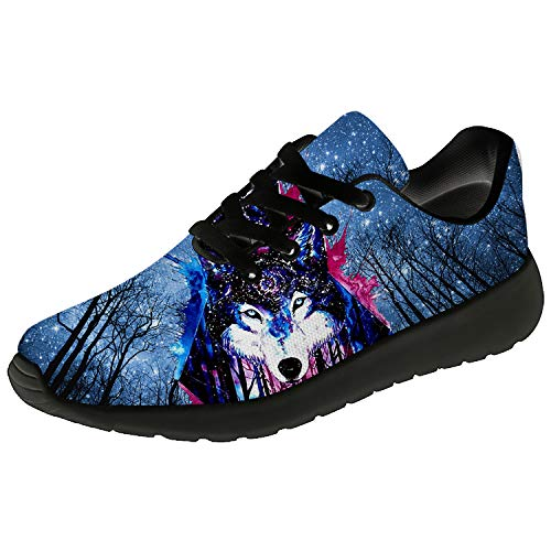 Wolf Shoes for Men Women 3D Print Custom Lightweight Breathable Fashion Sneakers Gifts for Her,Him
