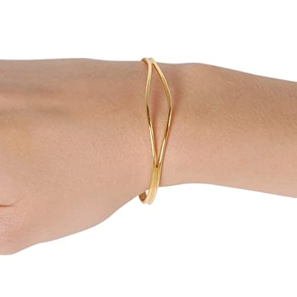 6b5a53bda Humble Chic Open Cuff Bracelet for Women and Little Girls - Hypoallergenic  Adjustable Double Skinny Bar