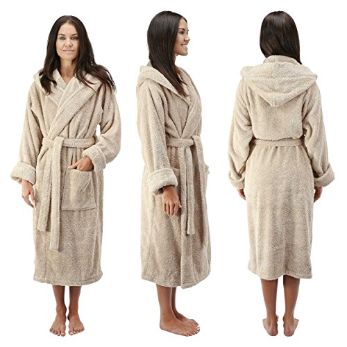 4367bbb3ba Comfy Robes Women s Deluxe 20 oz. Turkish Cotton Hooded Bathrobe