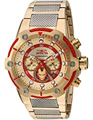 Invicta Mens Marvel Quartz Stainless Steel Casual Watch, Color:Two Tone (Model: 25781)