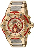 Invicta Marvel Iron Man Edition Gold Dial Chronograph Stainless Steel Men's Watch 25781