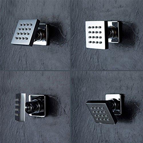 ZHENWOCAI 50x50mm Square Bathroom Concealed Body Shower Jet Brass Chrome Massage Spa Spray Jets Accessory New