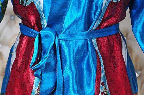 ZC&J Short párrafo albornoz transpirable servicio a domicilio vestido de señora de simulación de seda de comodidad de rebeca de albornoz de moda pijamas de ropa interior de seda,yellow,one size Yellow