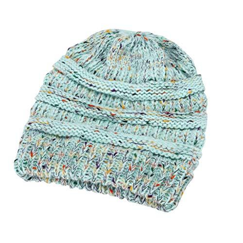 TOTAMALA Women Winter Warm Stretch Knitted Cap Beanie Hats Headband Skullies Beanies