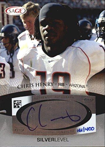 2007 SAGE Autographs Silver #A23 Chris Henry Autograph Card Serial - Sage 2007 Autograph