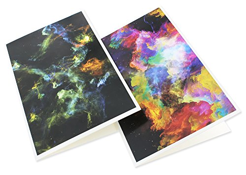48 Pack All Occasion Assorted Blank Note Cards Greeting Cards Bulk Box Set - 6 Colorful Cosmic Designs - Blank on the Inside Notecards with Envelopes Included - 4 x 6 Inches Photo #5