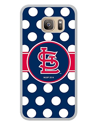 Price comparison product image BALAQUINN - Samsung S7 Case,St Louis Cardinals (5) Rubber Case (White) for Samsung Galaxy S7
