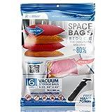 """ziplock vacuum space bags - Premium Jumbo Space Saver Bags 40""""x30"""" 6-Pack Ziplock Vacuum Storage Bags by RoomierLife"""