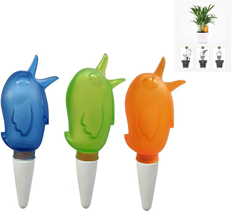 MEABEN 3 Pieces Plant Self Watering Automatic Watering Spikes Bird Shape Durable Slow Release Vacation Plants Watering System for Indoor & Outdoor Potted Plants Flowers and Trees