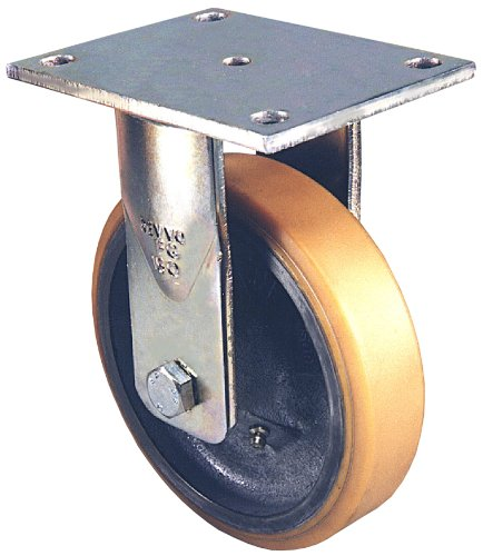 Twin Wheel Caster Solutions TWUN-75U-T03-BK 3 Diameter Nylon Wheel Unhooded Non-Brake Caster 132 lb Capacity Range 1//4-20 Diameter x 1 Length Threaded Stem