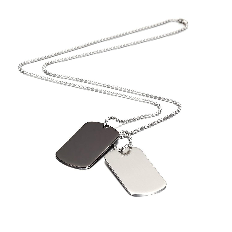 8547aa1b0163 Colgante para hombre con cadena y 2 placas de Wistic Jewelry