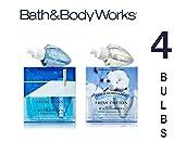 Bath and Body Works Wallflowers Combo 2 Bulbs Refills FRESH LINEN and 2 Bulbs Refills FRESH COTTON