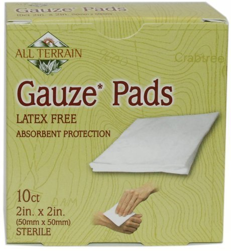 All Terrain 10-Count Latex-Free Sterile Gauze Pad, 2 x 2-Inch by All Terrain