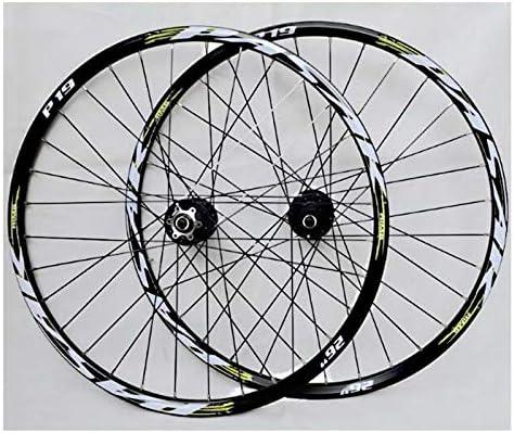 """Bike Wheelset 26""""/27.5""""/ 29"""" インチマウンテンバイクホイールダブルレイヤー合金アナル封印されたベアリングディスクブレーキ32ホール7/8/9/10/11カセットホイール (Color : B, Size : 29inch)"""