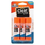 Office Products : Elmer's Washable Clear Repositionable Glue Sticks - 3 Pack (0.28 Ounces each)